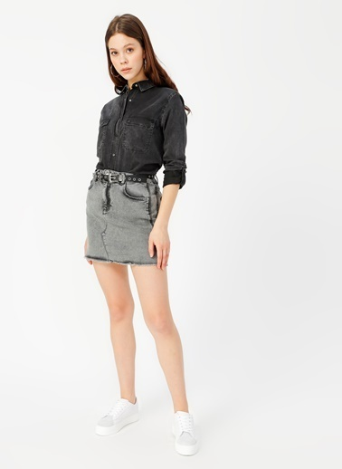 Limon Company Jean Gömlek Siyah
